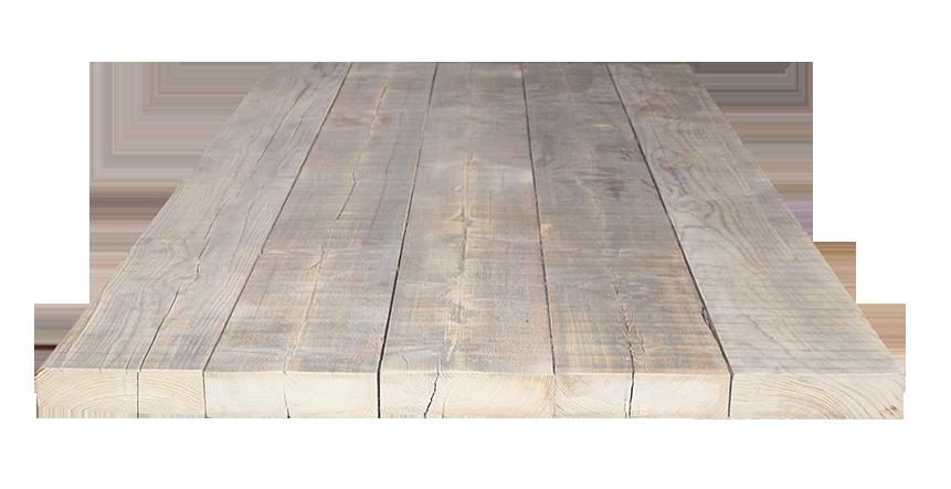 Stel zelf je tafel samen sloophout tafel op maat