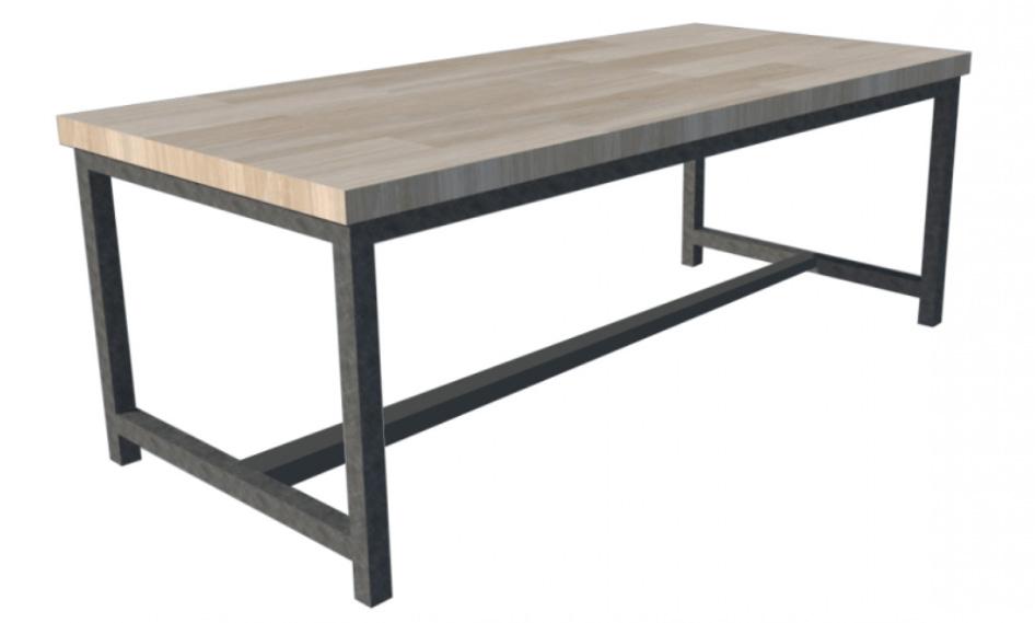 Tafel Onderstel Maken : Stel zelf je tafel samen sloophout tafel op maat