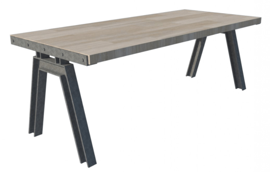 Top Stel zelf je tafel samen - Sloophout tafel op maat DH34